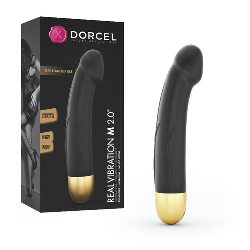 VIBRADOR REAL VIBRATION M GOLD RECARGABLE